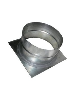 Врiзка кругла 100\пл.(150/150)х120