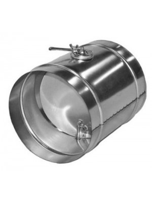Дросельний клапан круглий 200 (металева ручка)